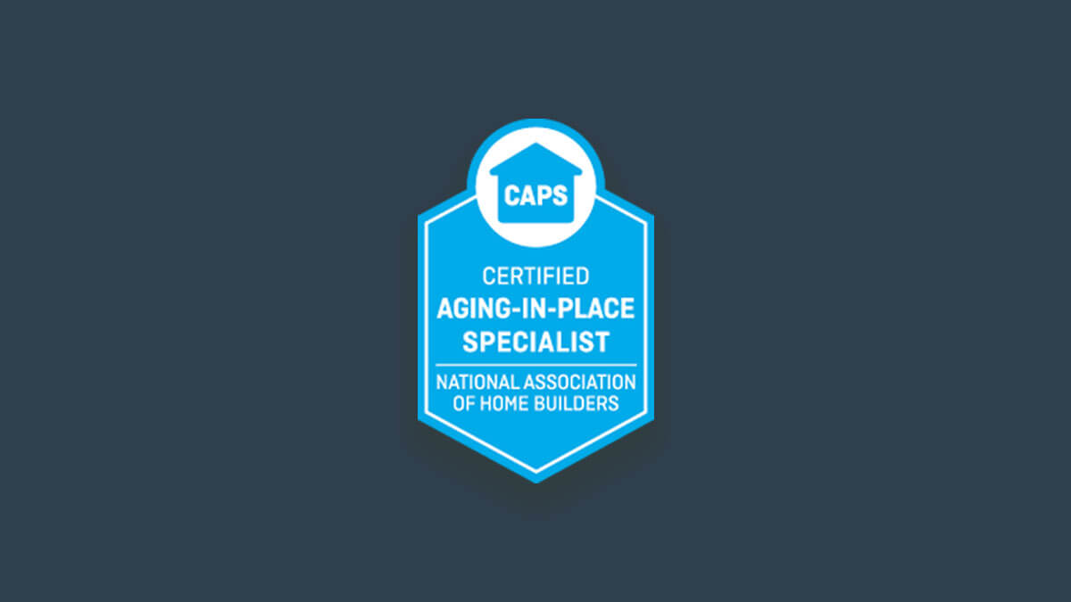 Certified Aging-in-Place Specialist 由美國住宅建築協會設計